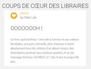 Coup de coeur FNAC Lille